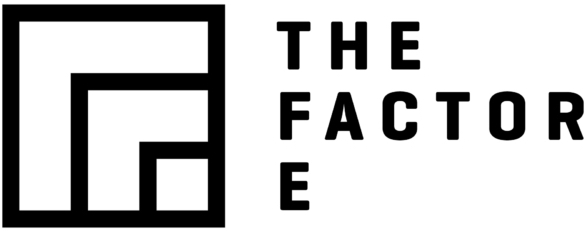 The Factor E logo